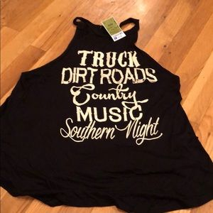 Tops - Country Music Tank NWT